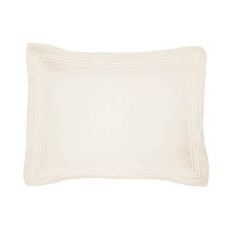 Luxurious Triple Embroidery Border Sateen Pillow Sham
