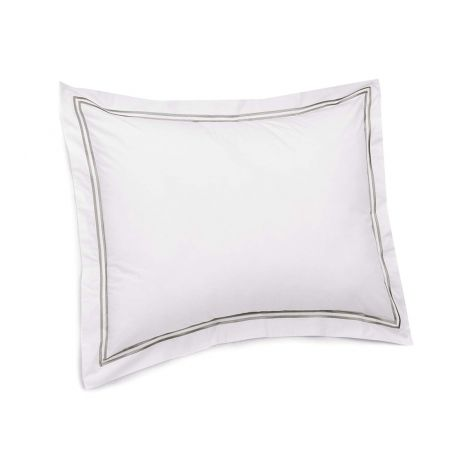 Luxurious Double Embroidery Border Sateen Pillow Sham
