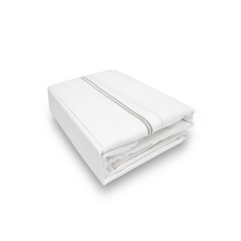 Double Embroidery Border Sateen Flat Sheet