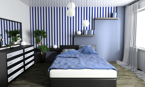 stripe wallpaper decor bedroom